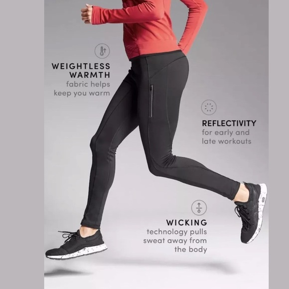 a50a2a455e Athleta Pants | Primaloft Ridge Fleece Tight Black Nwt | Poshmark